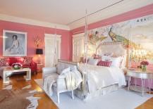Opulent Victorian bedroom in pink