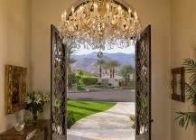 Ornate-ceiling-and-sparkling-chandelier-fit-in-with-the-Mediterranean-theme-217x155