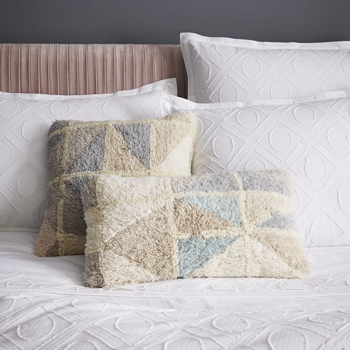 Patterned textured pillows from West Elm