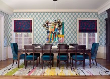 Play with different colors to create a vibrant dining room