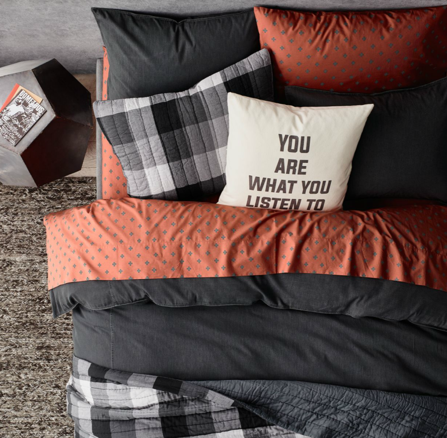 plus sign bedding from rh teen decoist