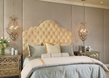 Plush bed is the showstopper in this lovely bedroom