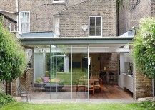 Polycarbonate and glass modern extension of classic London home 217x155 Semi Detached London Terrace House Gets a Bright Modern Extension