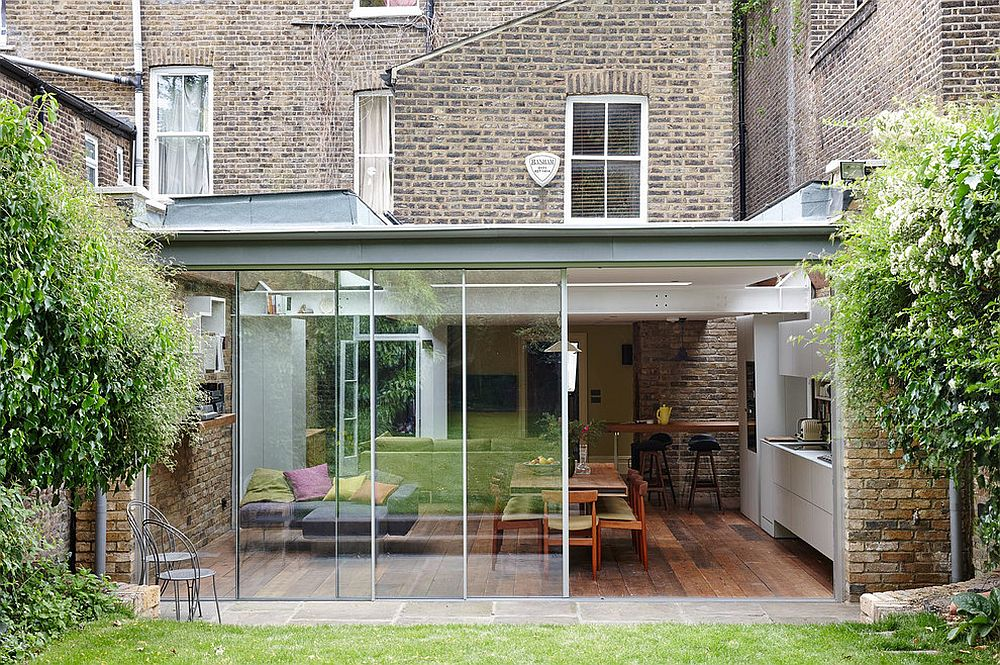 Polycarbonate and glass modern extension of classic London home
