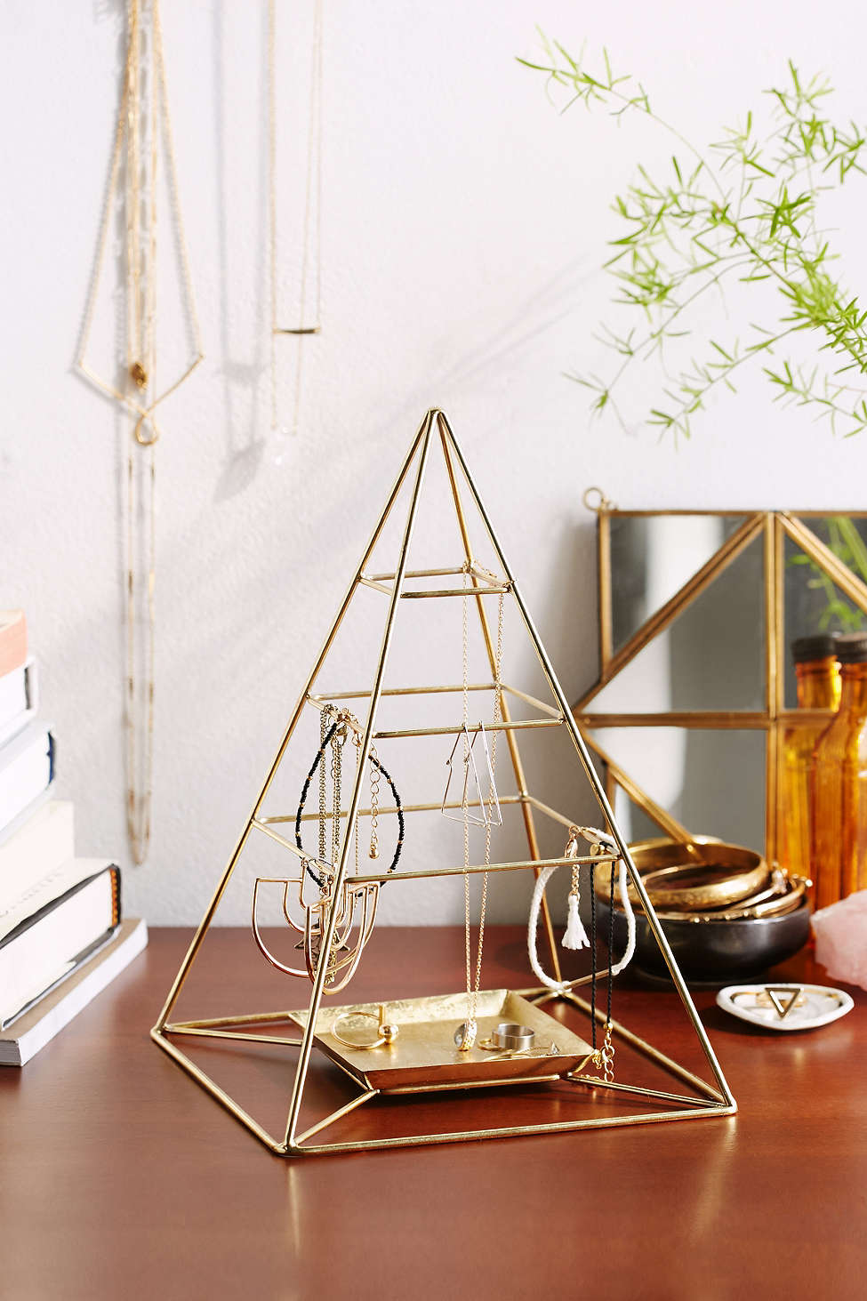Pyramid jewelry stand from Urban Outfitters