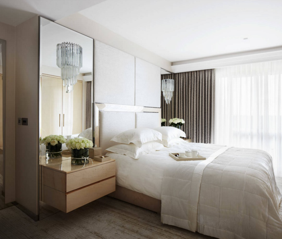 View In Gallery Reflective Surfaces In An Elegant Bedroom