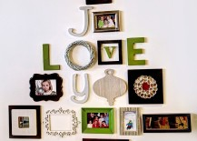 Relive those lovely moments beyond the holiday season with a family photo wall