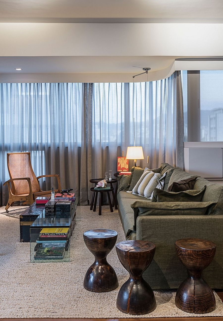 View In Gallery Revamped Penthouse With Modern Decor And Relaxing Ambiance