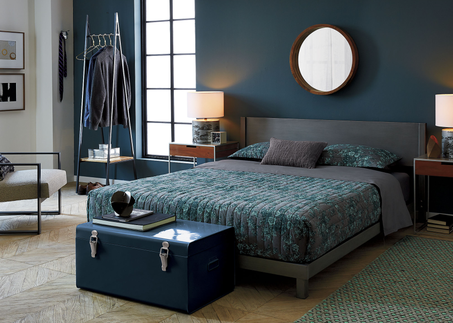 Rich hues in a bedroom from CB2
