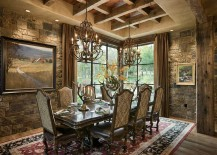 While We Have Already Featured Some Amazing Bedrooms And Bathrooms With Stone Walls Today It Is The Turn Of Exquisite Dining Room