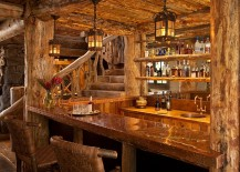 Rustic home bar design