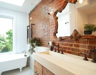 Rugged and Ravishing: 25 Bathrooms with Brick Walls
