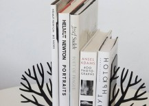 Scandinavian winter tree bookends