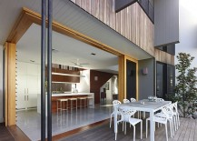 Series of courtyards defines the interior and the design of the living areas