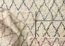 Shag rugs from RH Teen