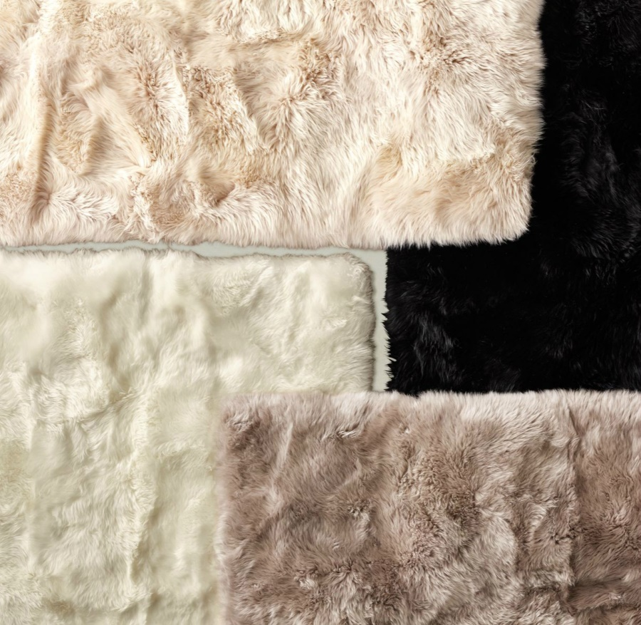 Sheepskin rugs from RH Teen