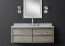 Single wide floating vanity from RH Modern