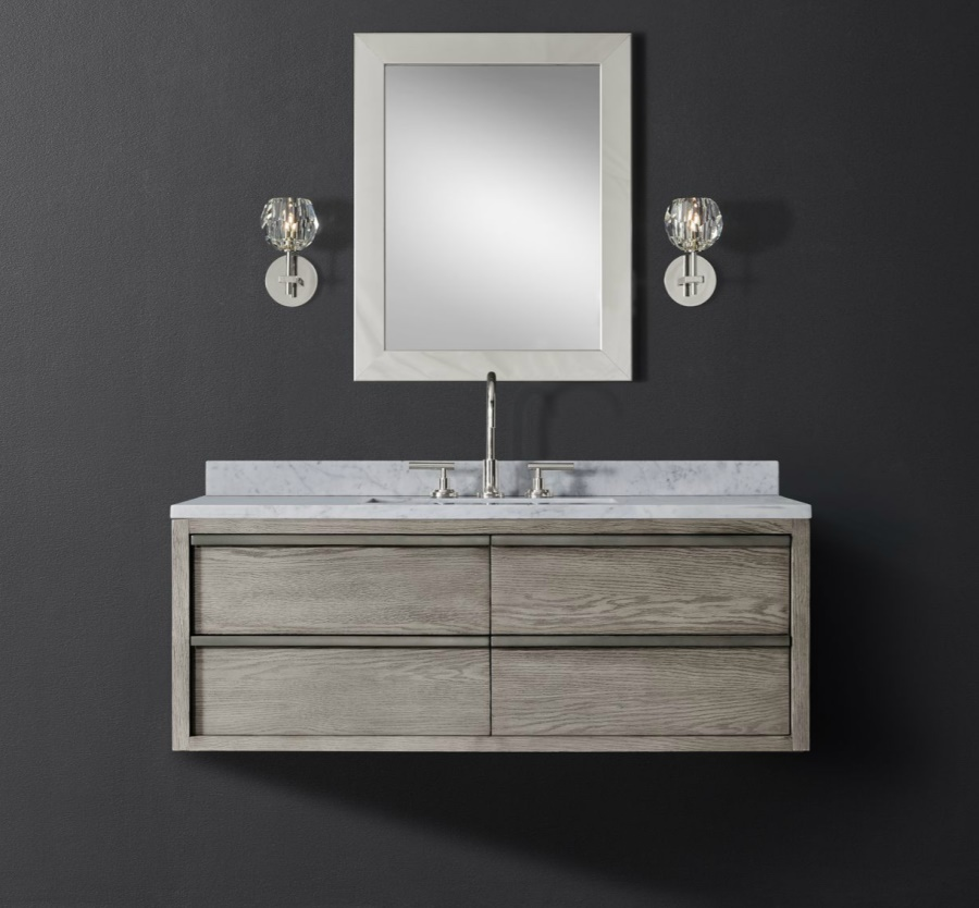 Single wide floating vanity from RH Modern
