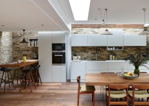 Skylight brings light into the revamped dining room and kitchen
