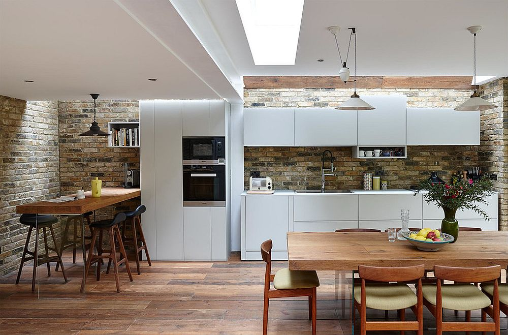 Semi detached london terrace house gets a bright modern for Terraced house dining room ideas