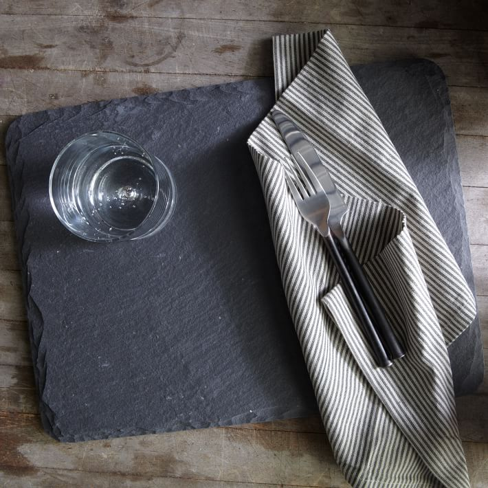 Slate placemat from West Elm