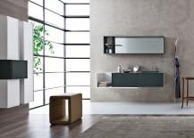 Sleek and polished bathroom vanities from Snaidero