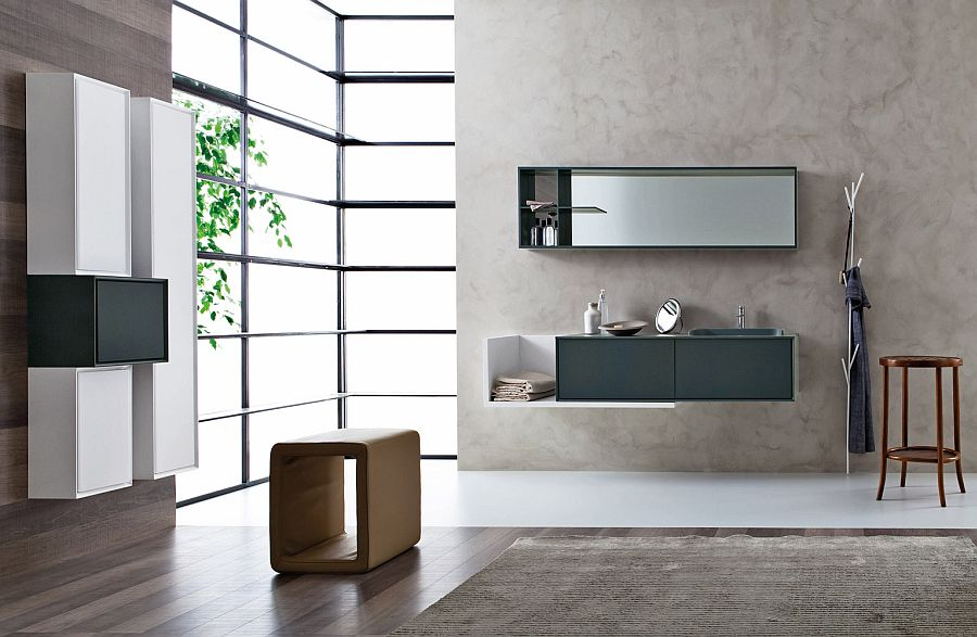 Sleek and polished bathroom vanities from Snaidero