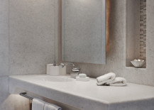 Sleek bathroom vanity that blends seamlessly with the space