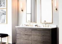 Sleek double vanity from RH Modern
