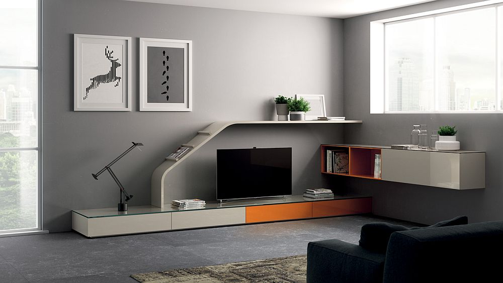Slide element becomes the signature feature of the living room collection