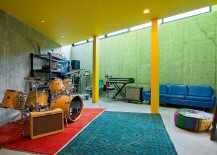 Snazzy basement renovation for the music lover