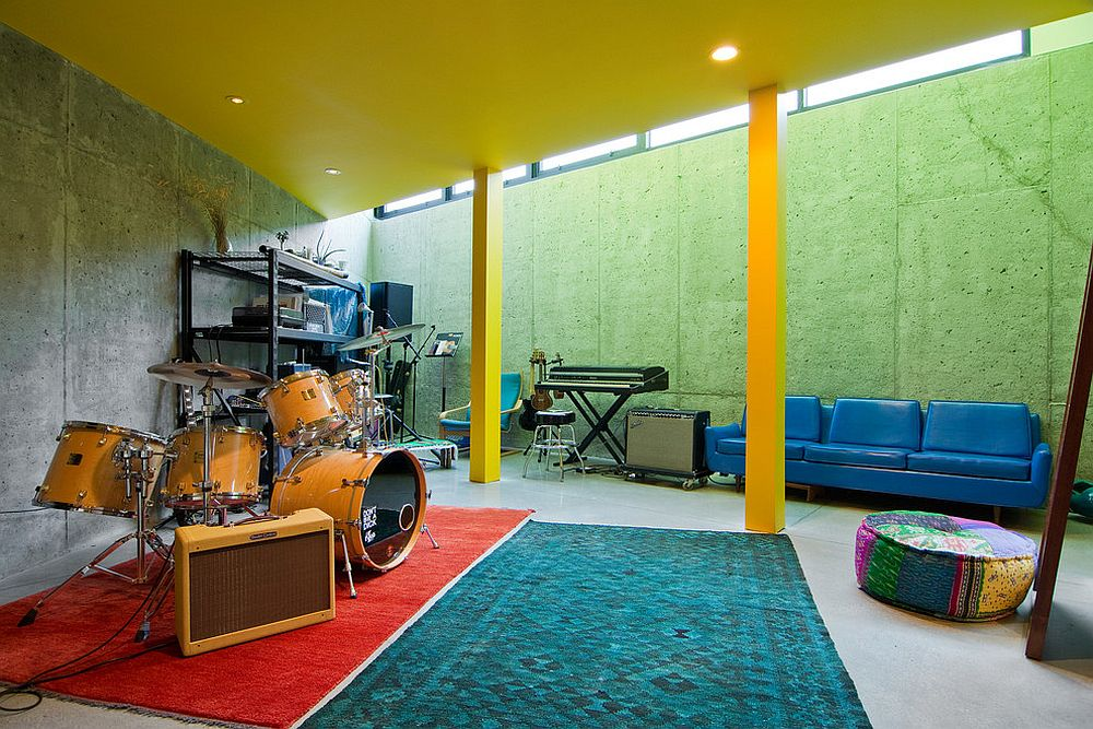 Snazzy basement renovation for the music lover [From: Lucy Call / Imbue Design]