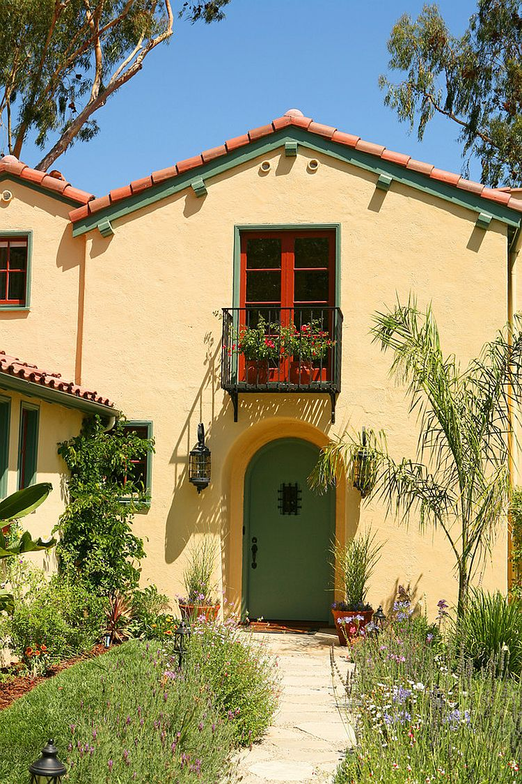 Spanish colonial revival home seems like a perfect setting to try out the Juliet balcony [Design: Sue Eller]