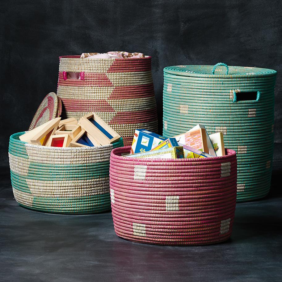 Storage baskets from The Land of Nod