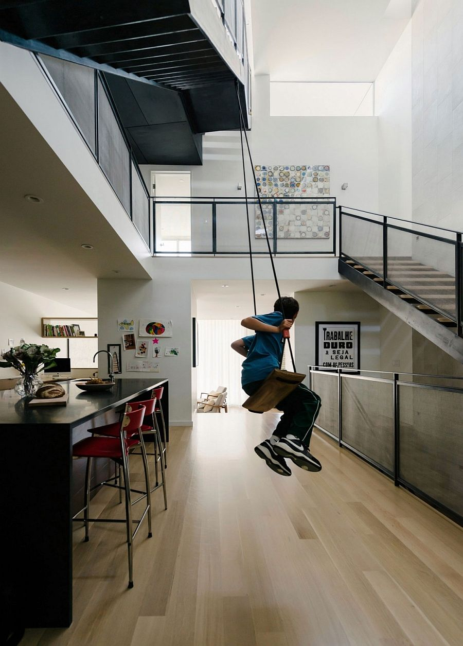 Structure of the staircase adds to the elegance of the home