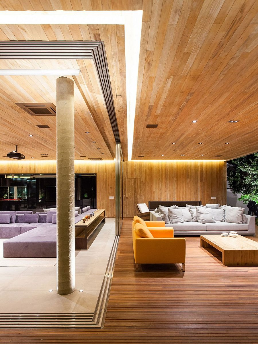 Stunning use of strip LED lighting elevates the style quotient of Residence MZ