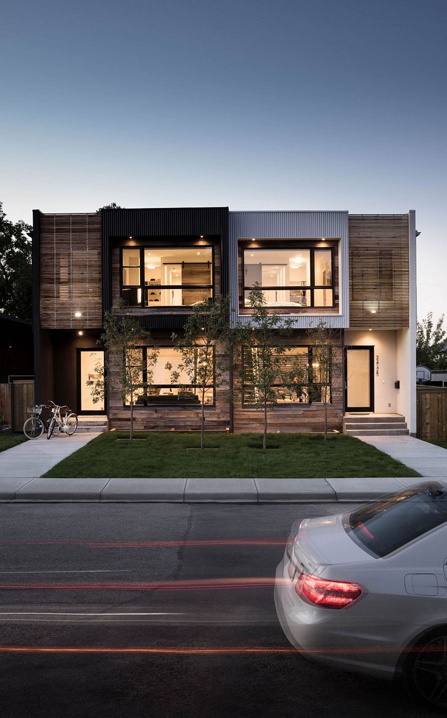 Project b95 urban infill epitomizes elegantly cultural for Modern house projects