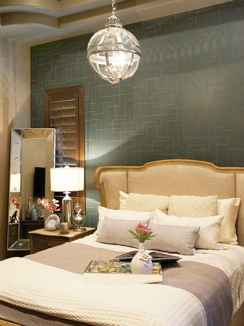 ... Stylish Victorian bedroom with decor from Restoration Hardware [Design:  Lisa Escobar Design]