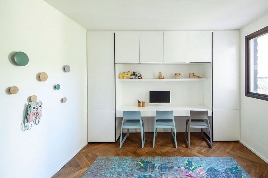 Stylish home office in white