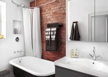Stylish industrial bathroom with a dash of gray