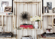 Take time to style your bookshelves