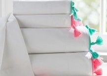 Tasseled sheets from PB Teen