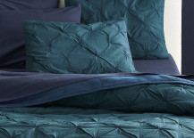 Teal bed linens from CB2