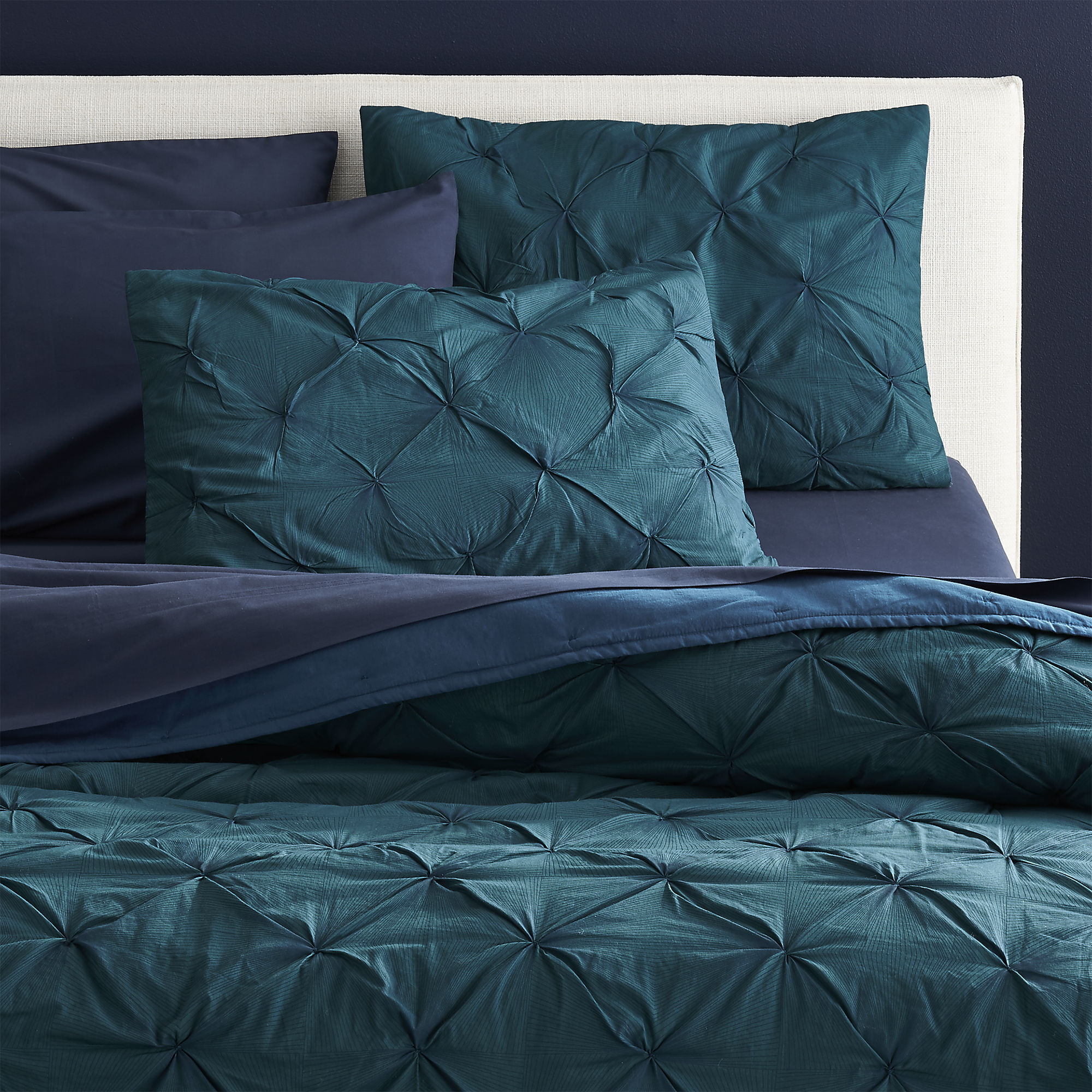 Aqua Gold Silk Bed Sheets