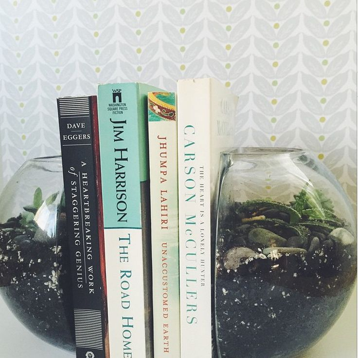 Terrarium bookends