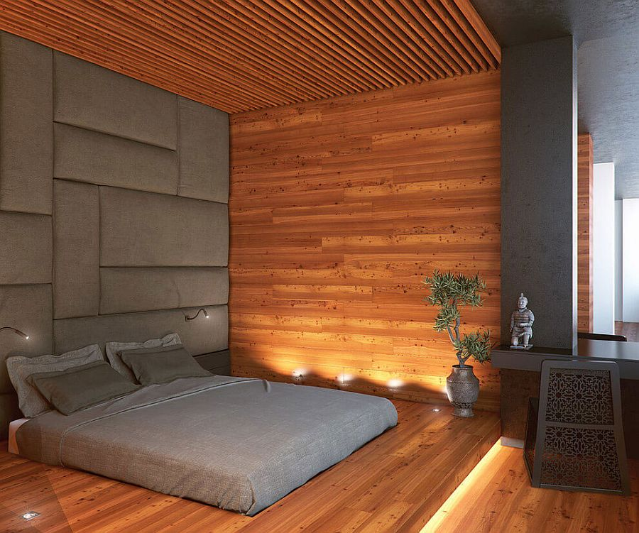 Thai design elements create a relaxing, zen-inspired bedroom