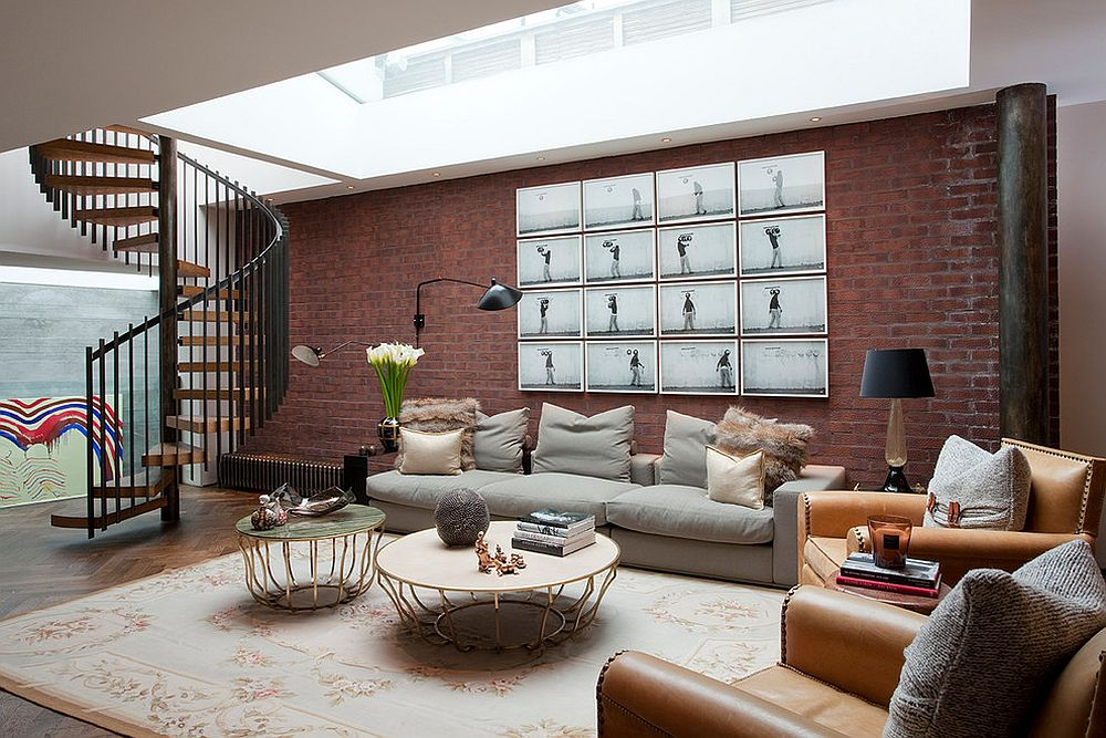 Transform the basement brick wall from dingy to dashing [Design: Shalini Misra]