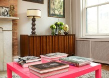Trendy hot pink coffee table inspired by Abigail Ahern design