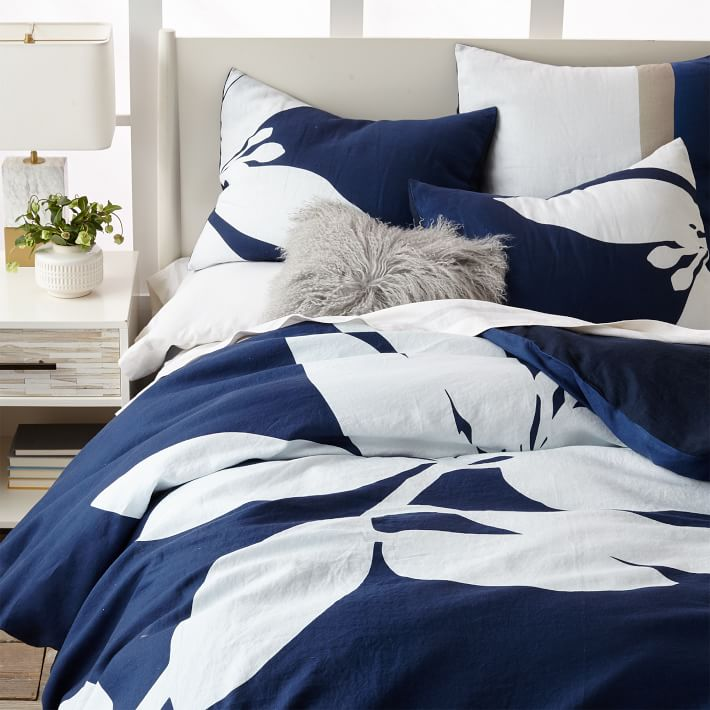 Tropical bedding from West Elm