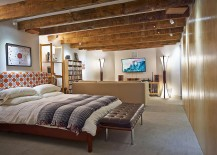 Turn the basement into an additional bedroom or guest space with ease